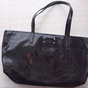 Kate Spade Perforated Patent Leather Tote